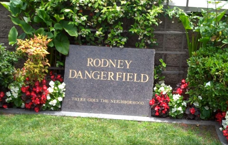 Comedian Rodney Dangerfield's grave site in Westwood Village Memorial Park Cemetery in Los Angeles, CA