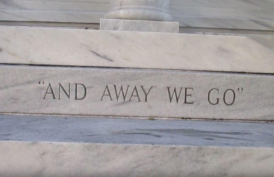 Side inscription of comedian Jackie Gleason's grave says