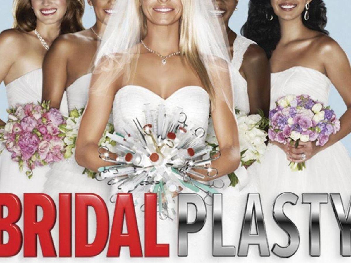 brides standing around holding bouquets