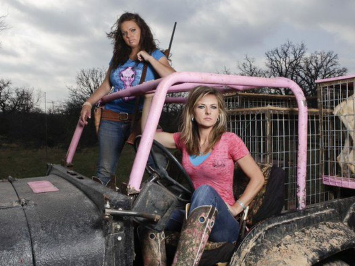 two girls chilling in a tractor