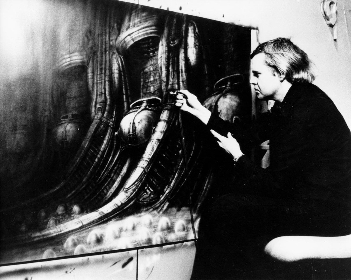 hr giger's artwork was used as inspiration for the xenomorph in alien