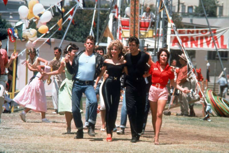 sandy at end of year scene in Grease