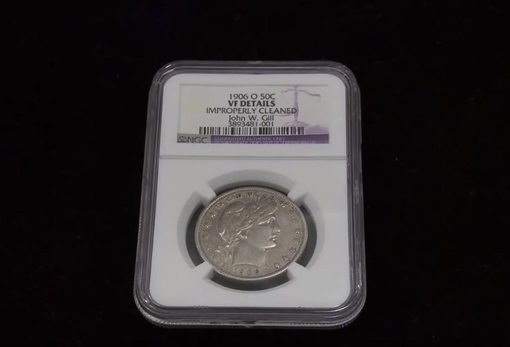Coin in a case