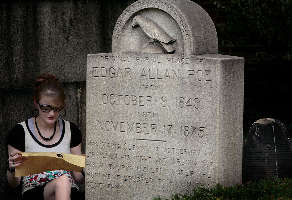 haunted edgar allan poe grave
