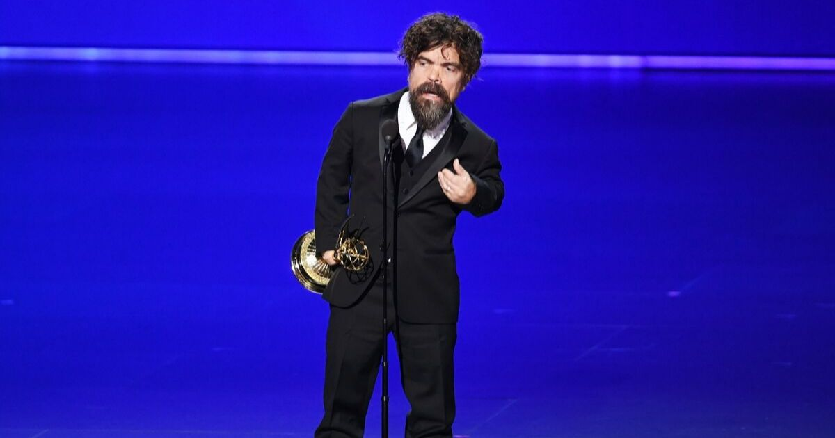 Peter Dinklage accepts the Outstanding Supporting Actor in a Drama Series award for 'Game of Thrones' onstage