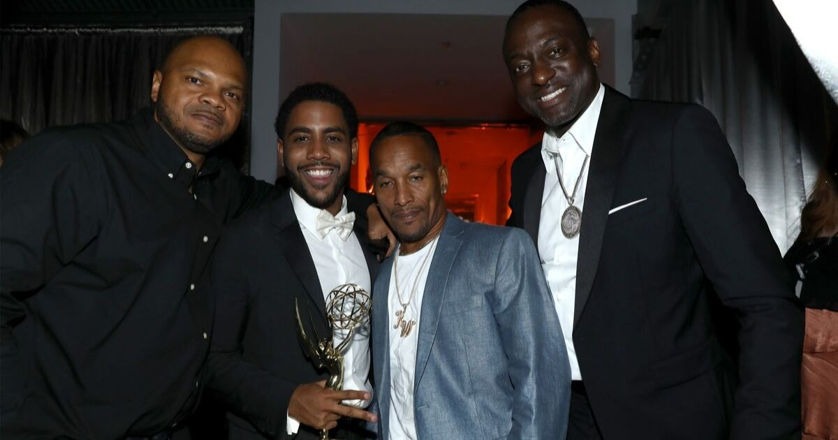 Kevin Richardson, Jharrel Jerome, Korey Wise, and Yusef Salaam attend the 2019 Netflix Primetime Emmy Awards After Party