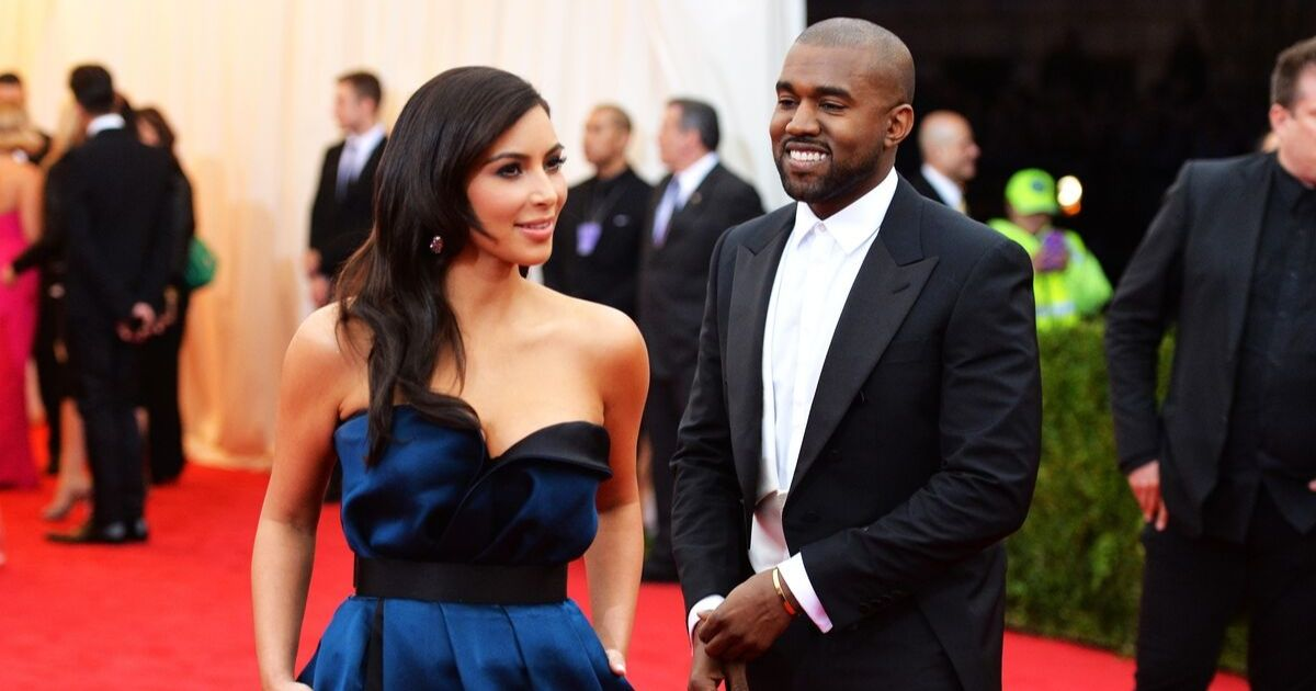 Kim Kardashian and Kanye West attend the 2014 Met Gala