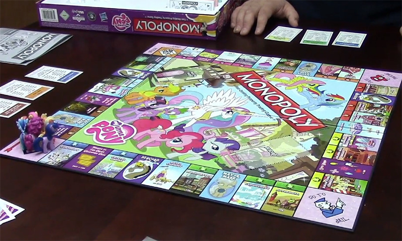 Monopoly My Little Pony is set and ready to be played