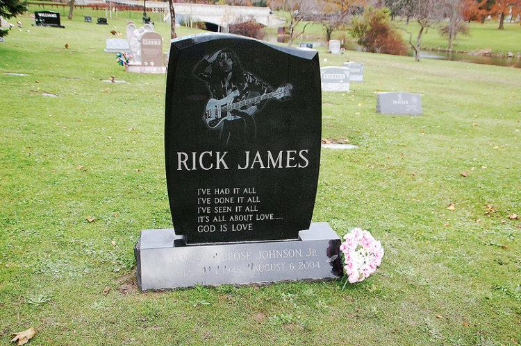 rick jamestombstones