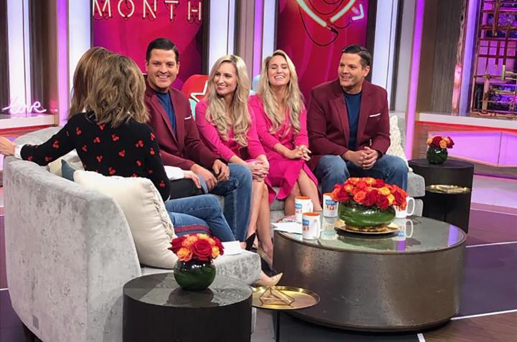 Group on a talk show