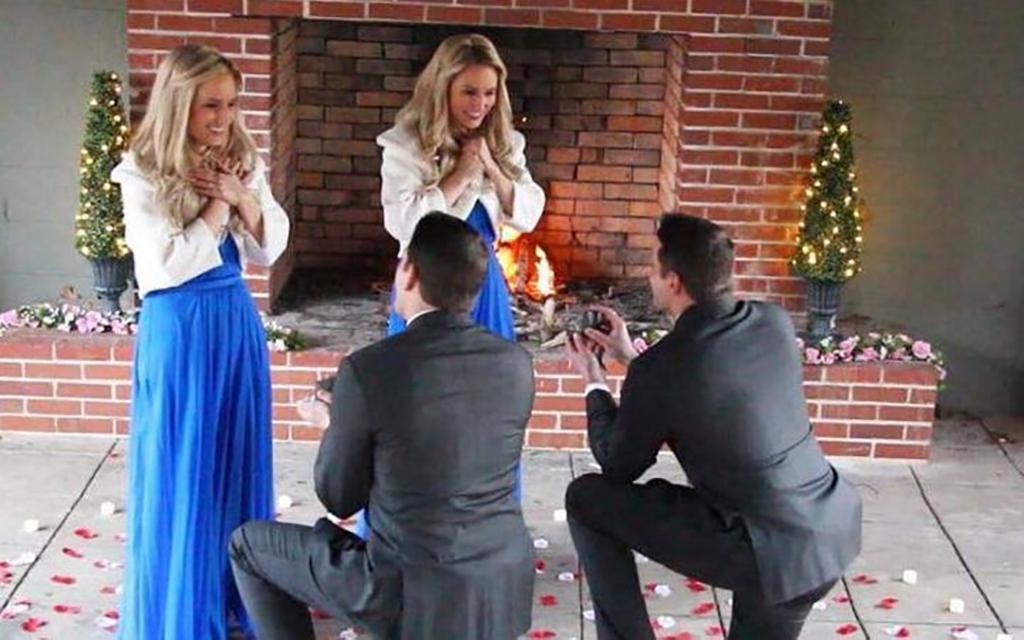 Men proposing