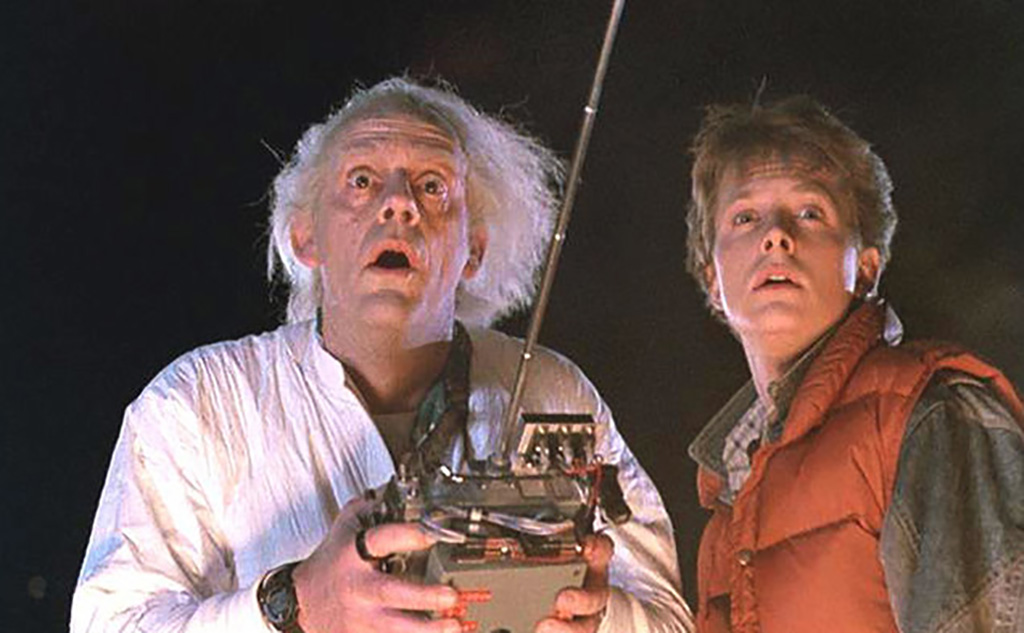 Doc showing Marty the car