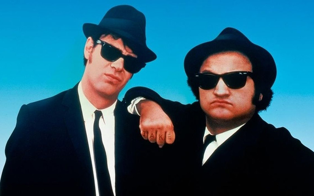 Posing as the Blues Brothers