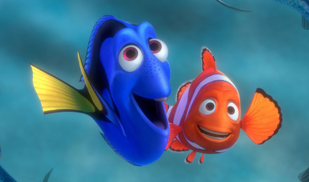 Marlin and Dory smiling