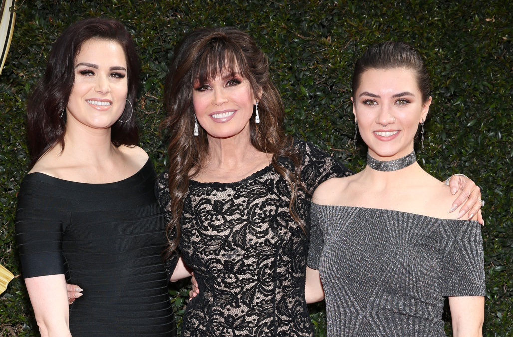 marie osmond posing with her daughters