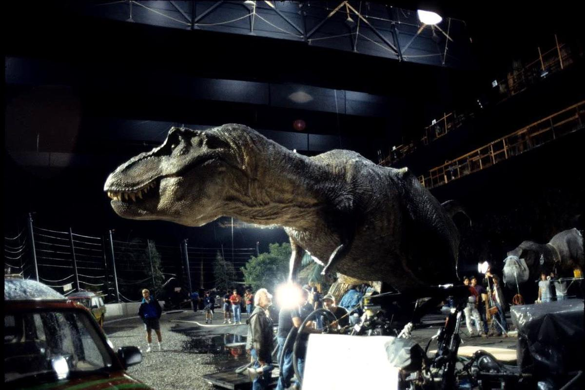 the animatronic t rex in jurassic park failed a lot
