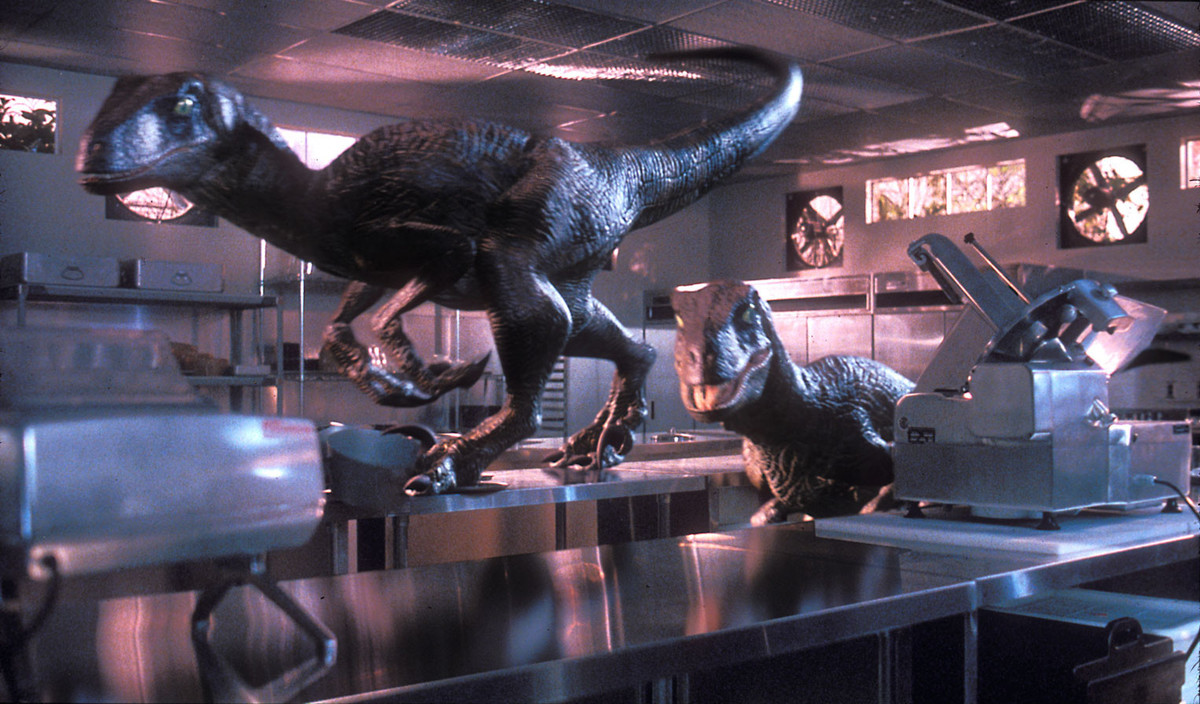 jurassic park featured 15 minutes of dinosaurs