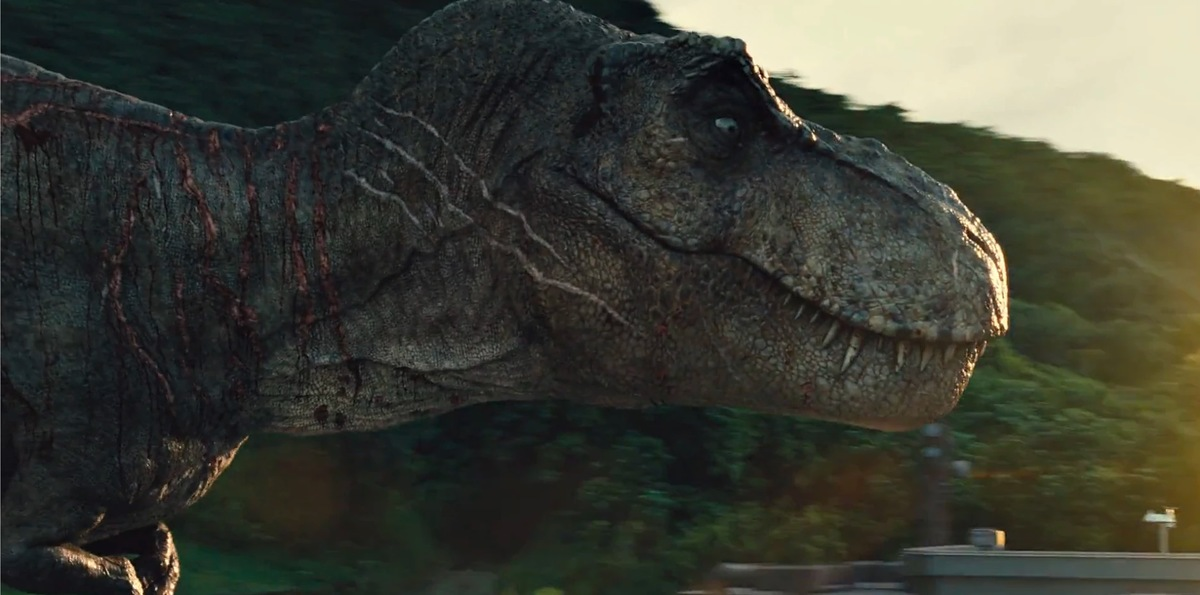 jurassic-world-t-rex scars match the original jurassic park