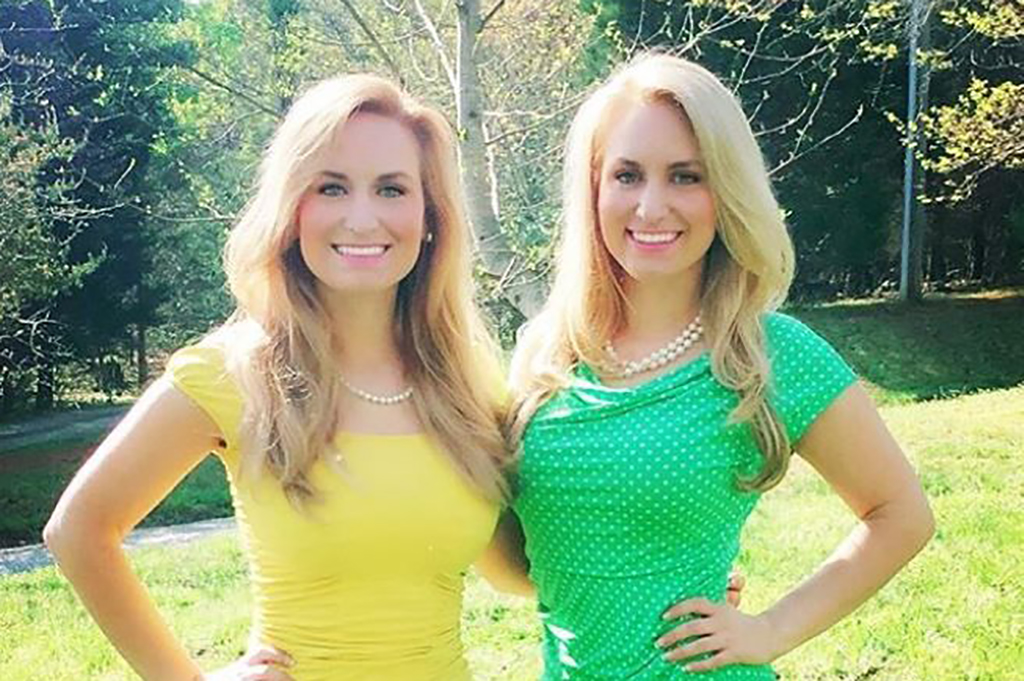 Girls wearing yellow and green dresses