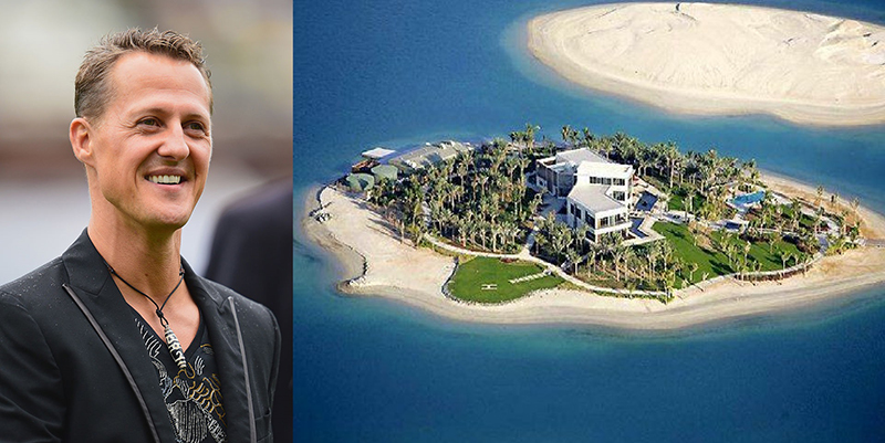 Michael Schumacher And His Island In Dubai