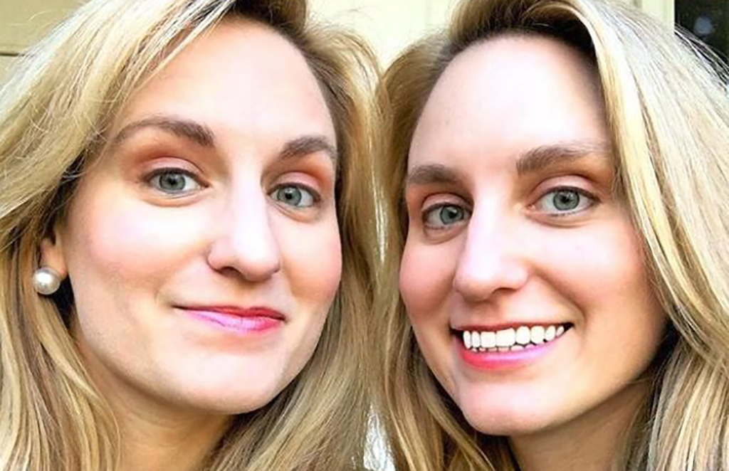 Sisters taking a selfie
