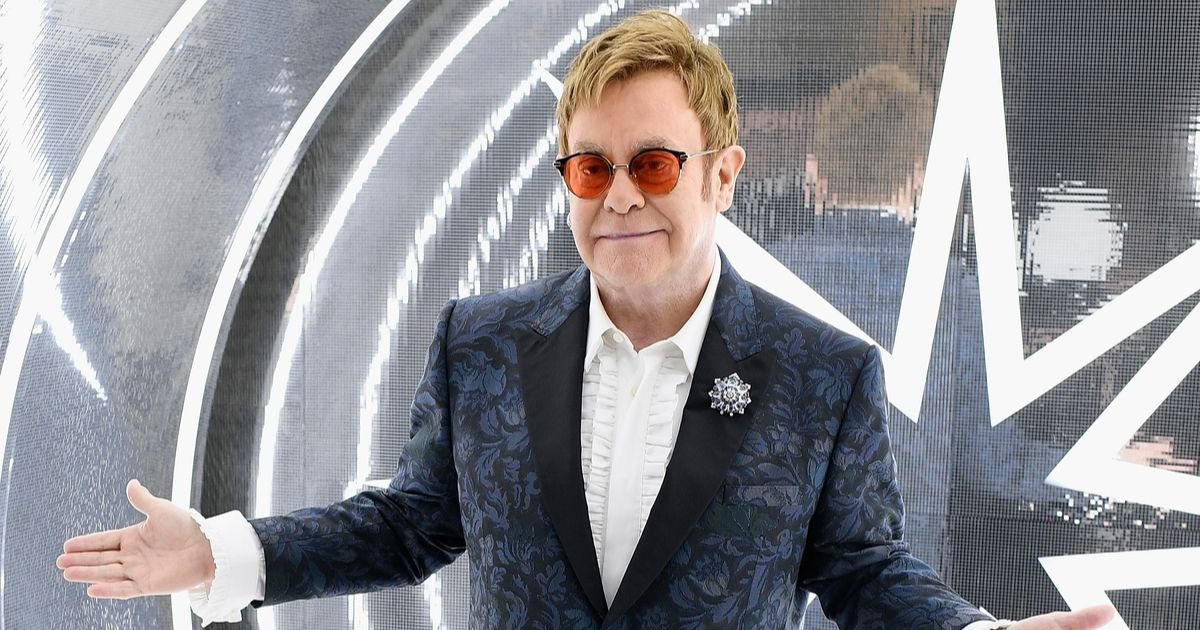 Elton John attends the 25th Annual Elton John AIDS Foundation's Academy Awards Viewing Party