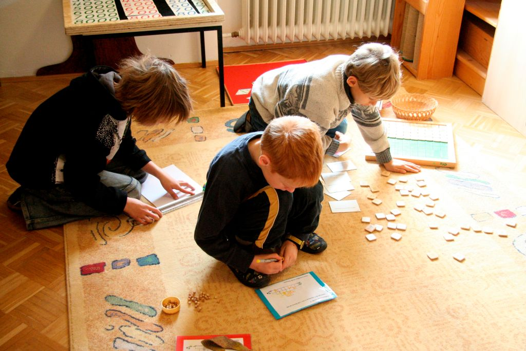 kids playing in a house
