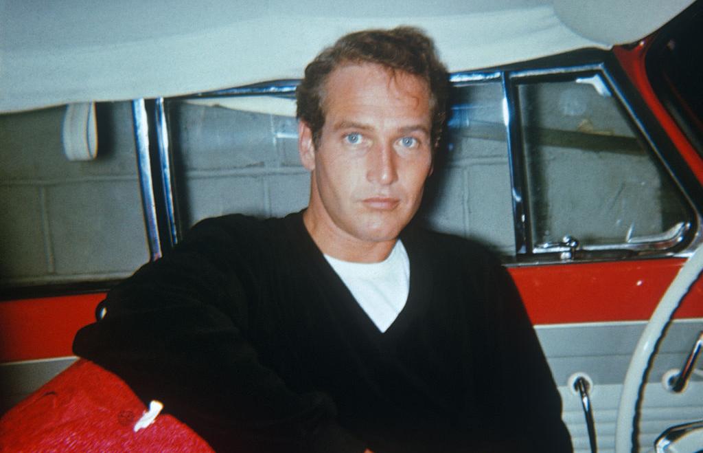 Newman in a car