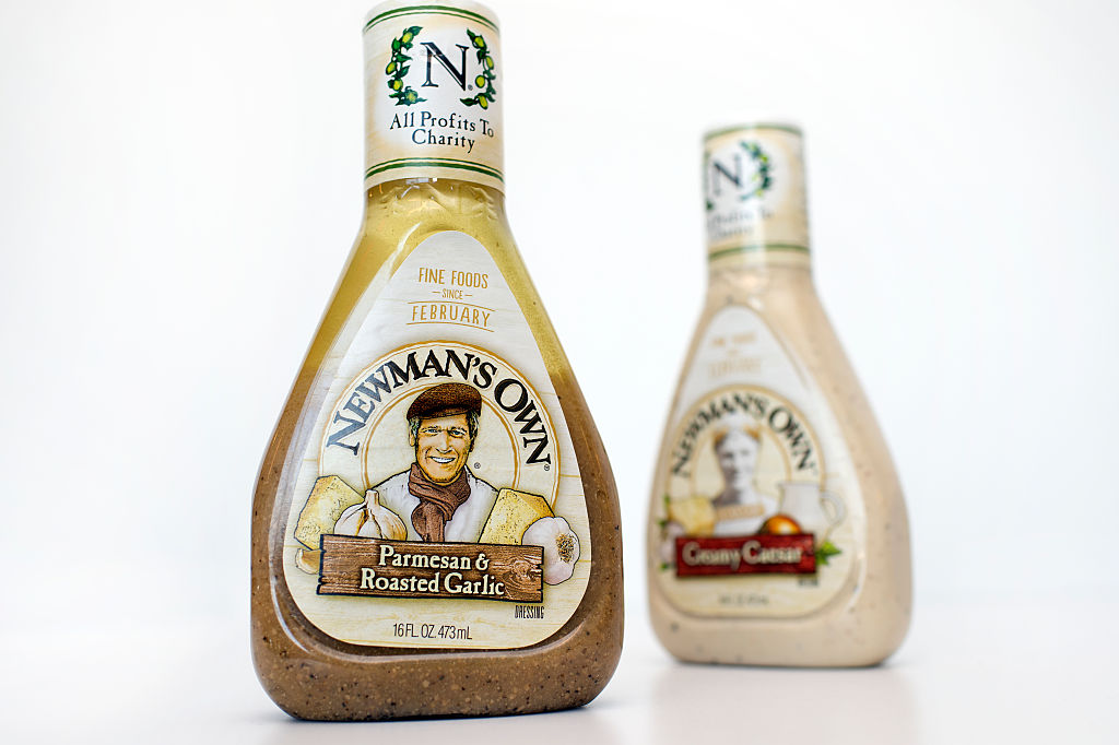 Bottles of Newman's Own dressing