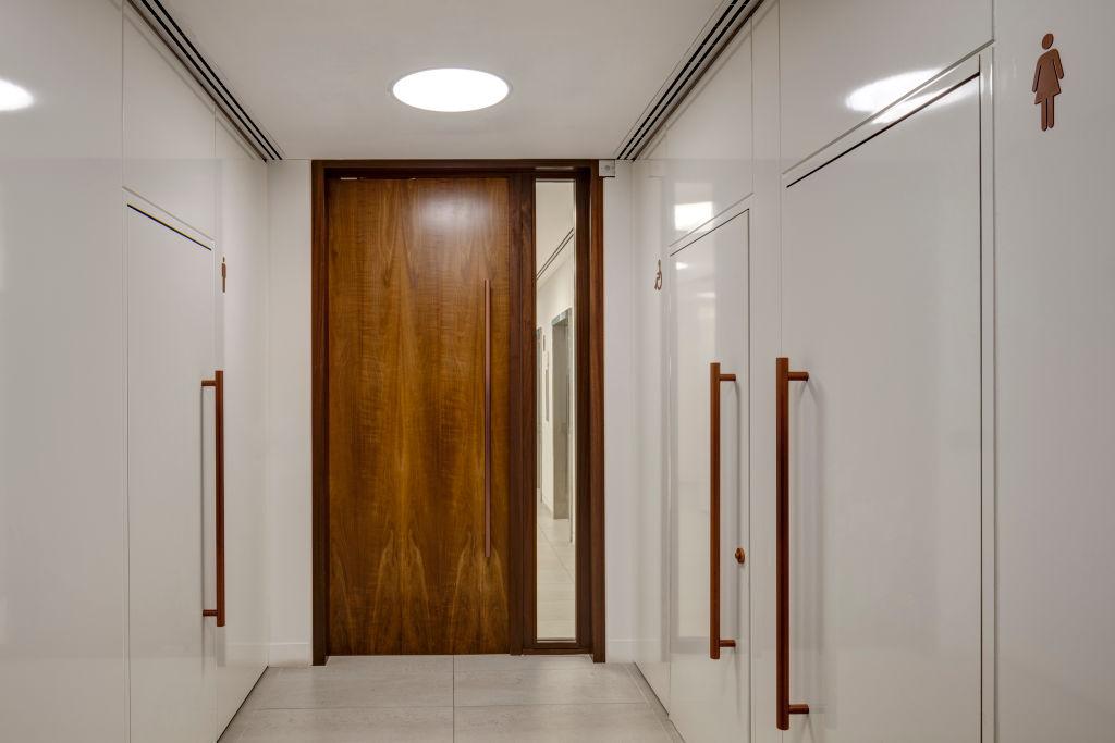 a door that has been shut