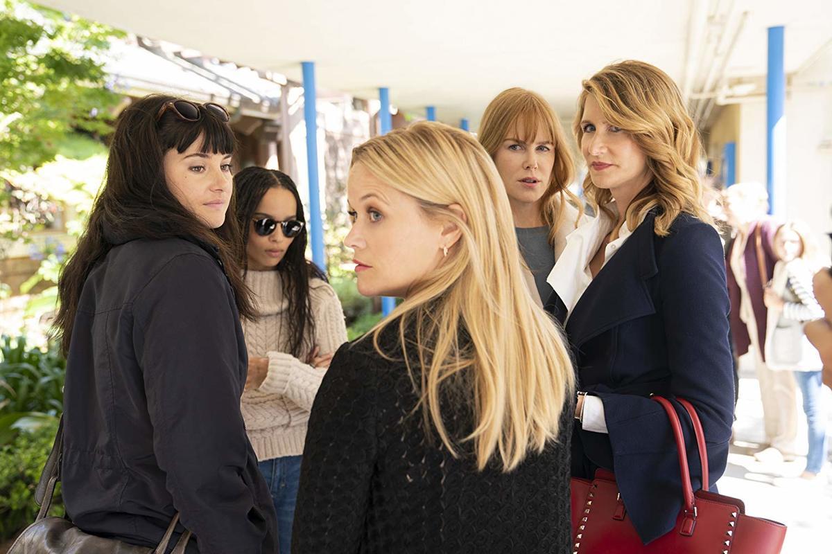 Nicole Kidman, Laura Dern, Reese Witherspoon, Shailene Woodley, and Zoë Kravitz in Big Little Lies