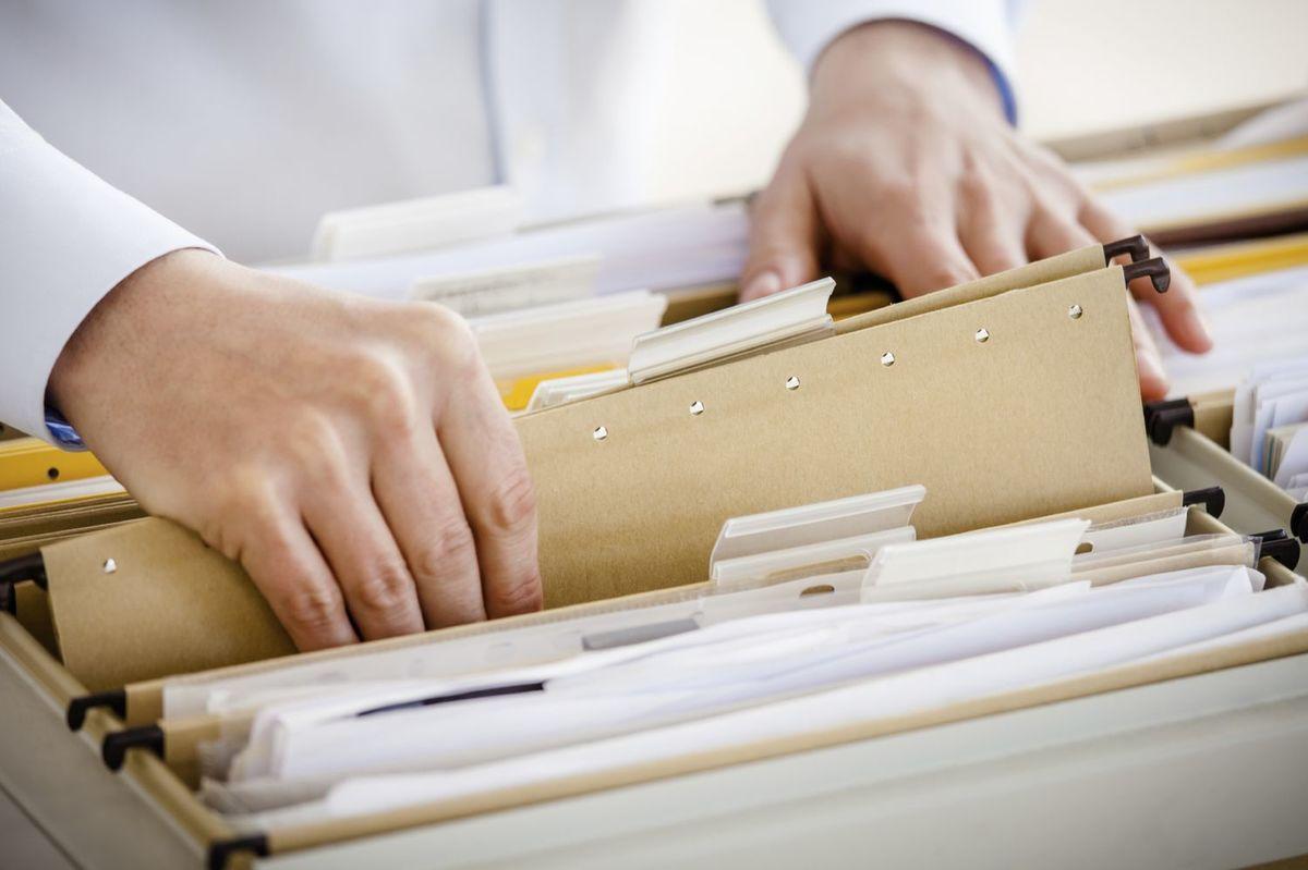 finances in filing cabinet