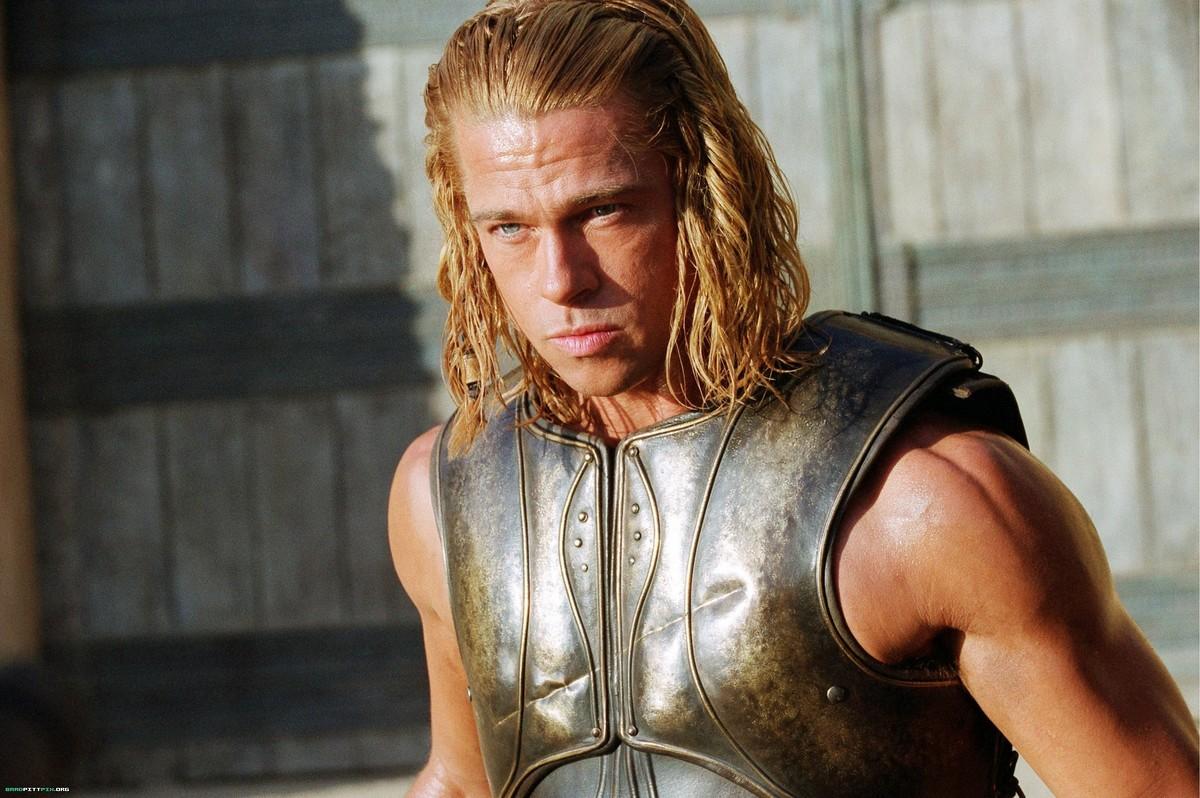 A Trojan warrior looks serious.