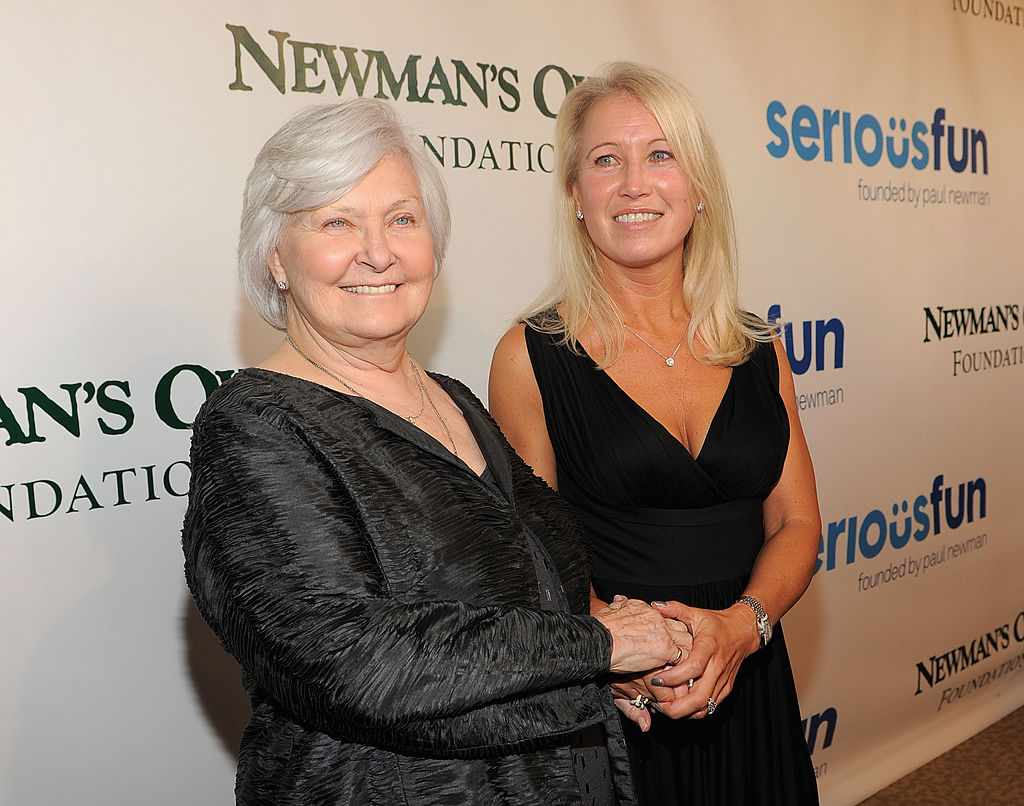 Joanne Woodward (L) and Claire Newman attend a Celebration of Paul Newman's Dream to Benefit the SeriousFun Children's Network