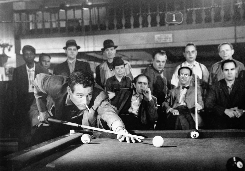 Newman playing pool