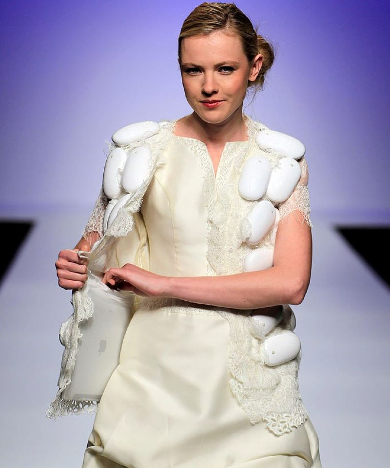 This Upcycled Apple Product Dress
