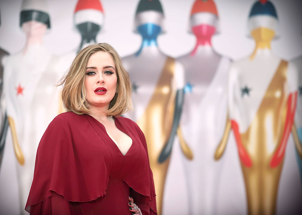 adele in red
