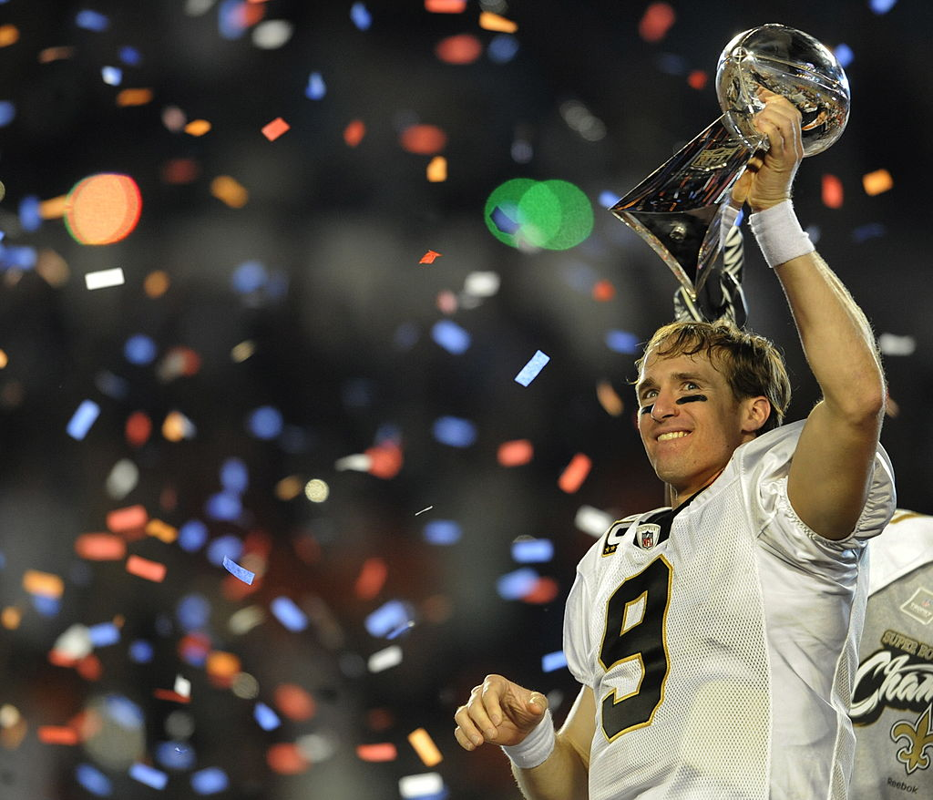drew brees wins the super bowl