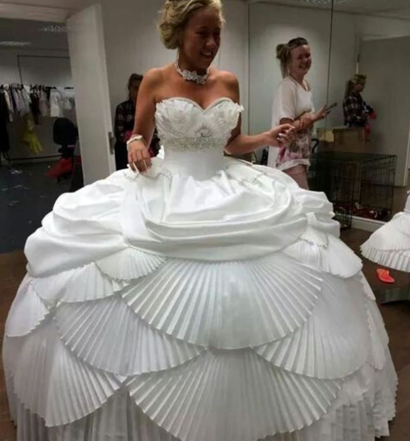 Dress Made Of Cupcake Foils