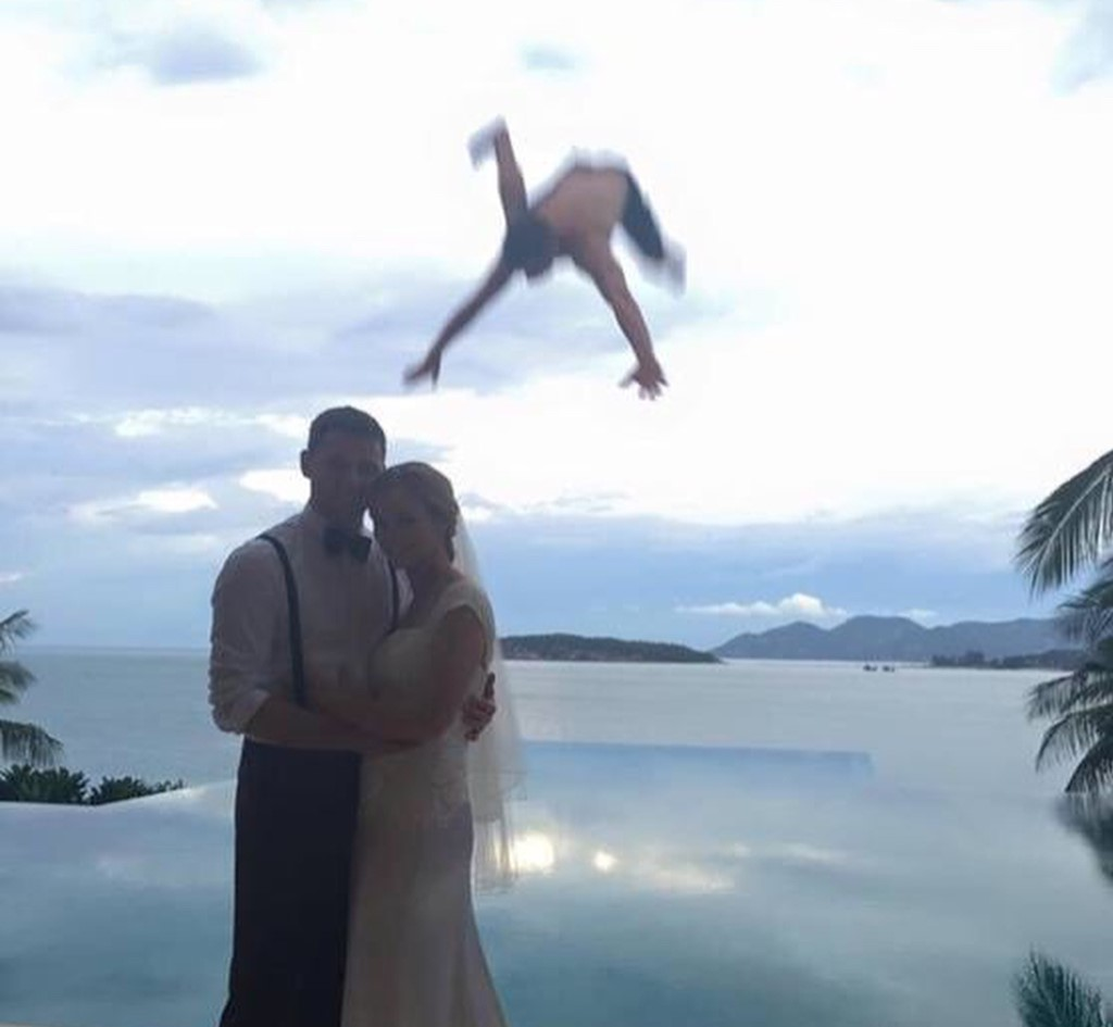 boy-plummeting-behind-newlyweds