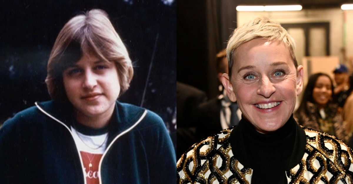 ellen degeneres then vs. now