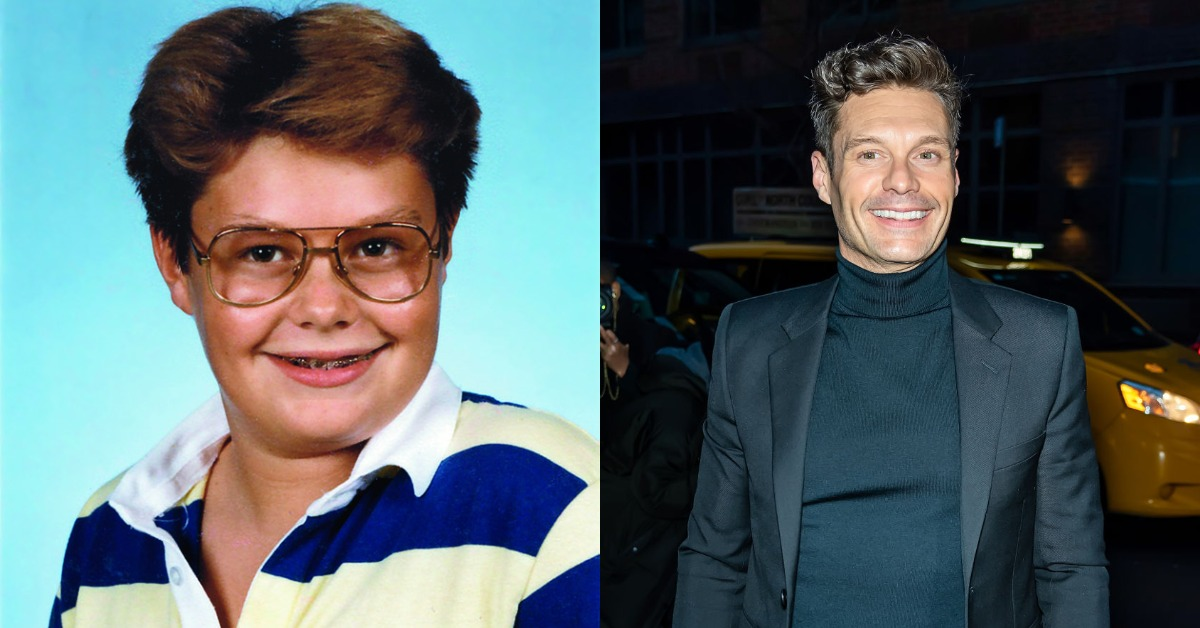 ryan seacrest then vs. now