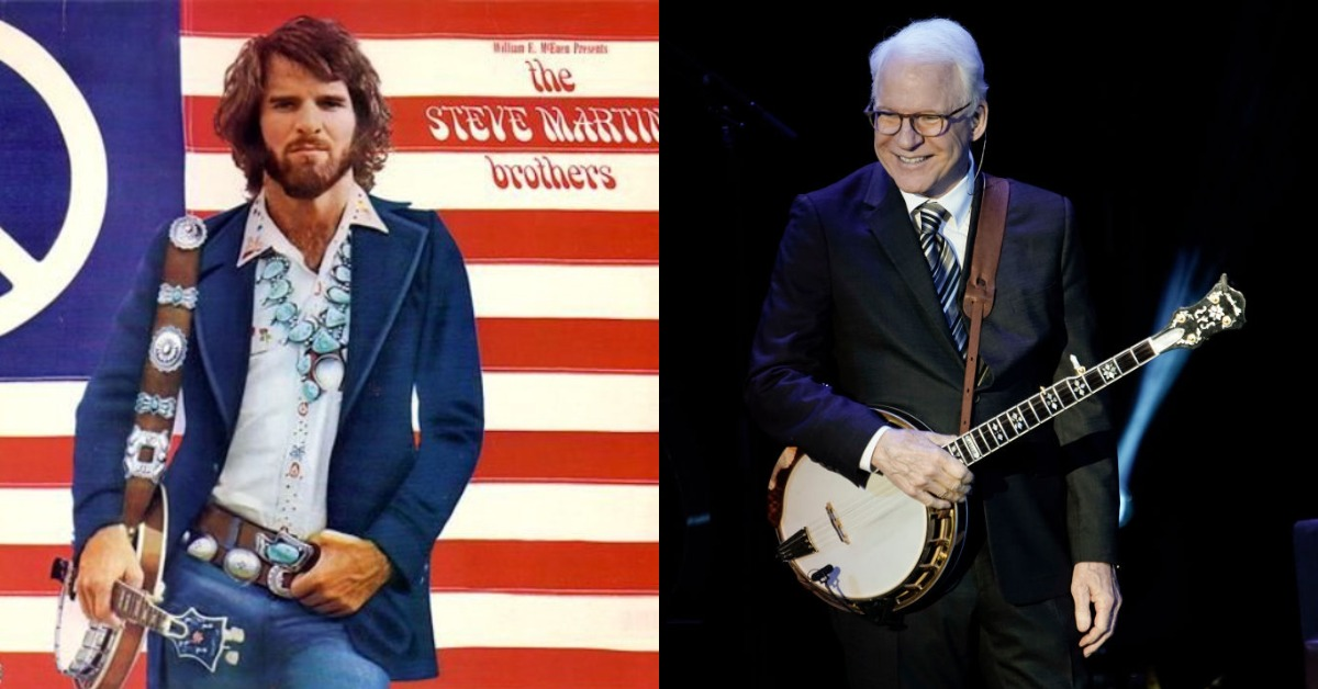 steve martin with a banjo then vs now
