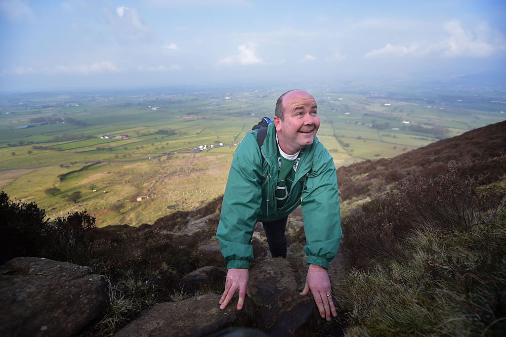 Hundreds of people make the St. Patrick's Day pilgrimage to the top of Slemish