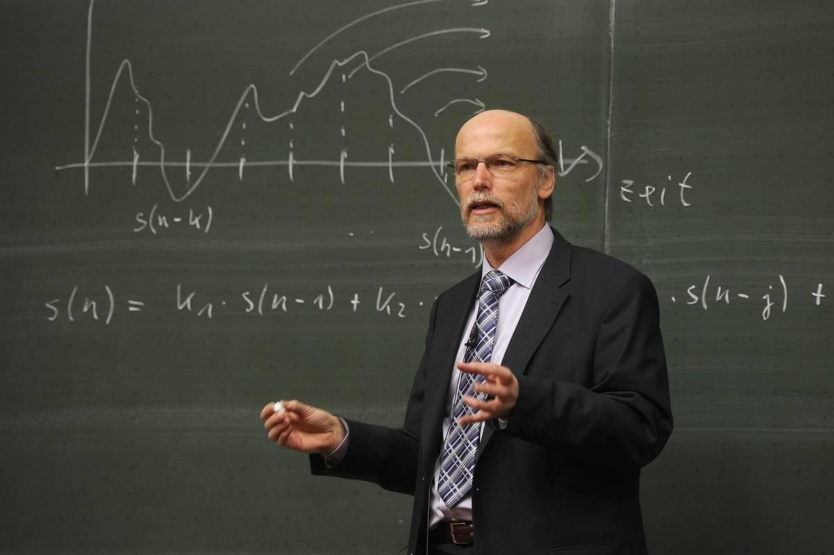 a teacher lecturing