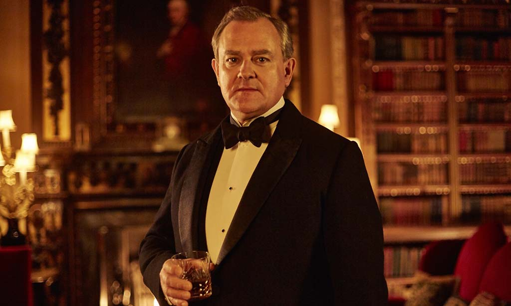 Hugh Bonneville with drink