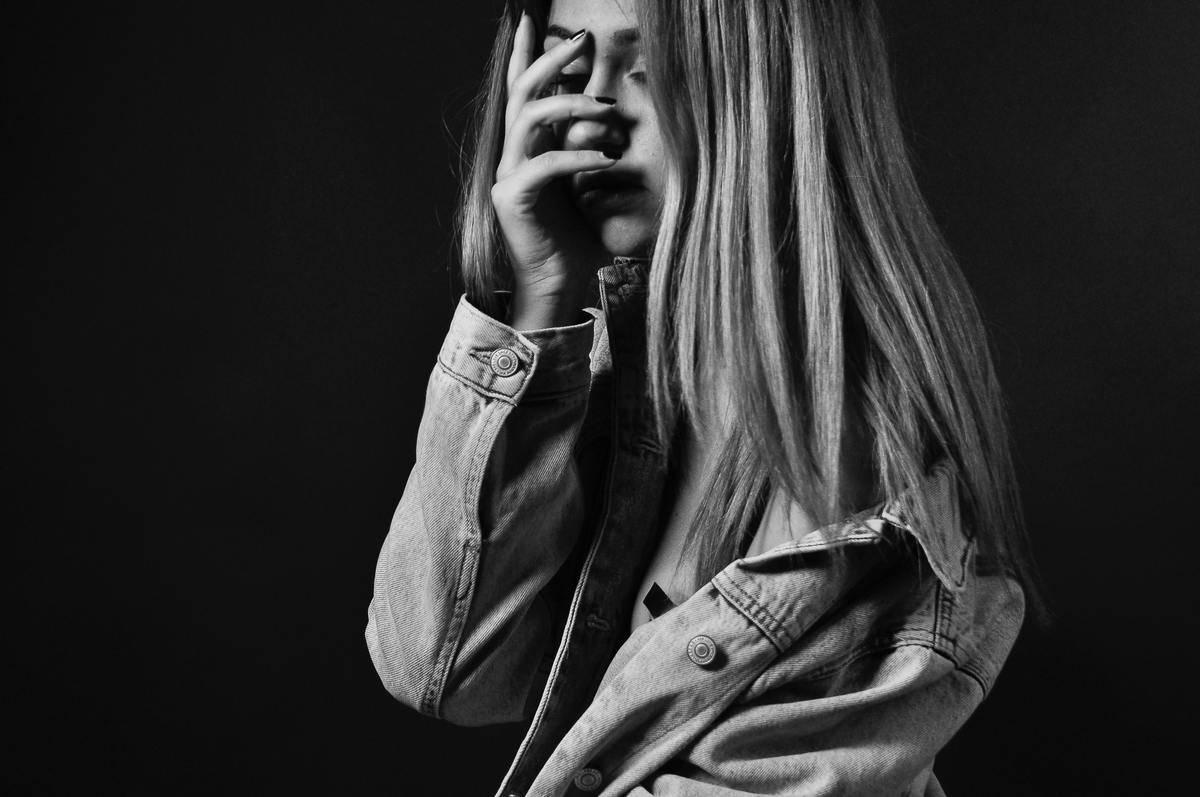 a sad teenager