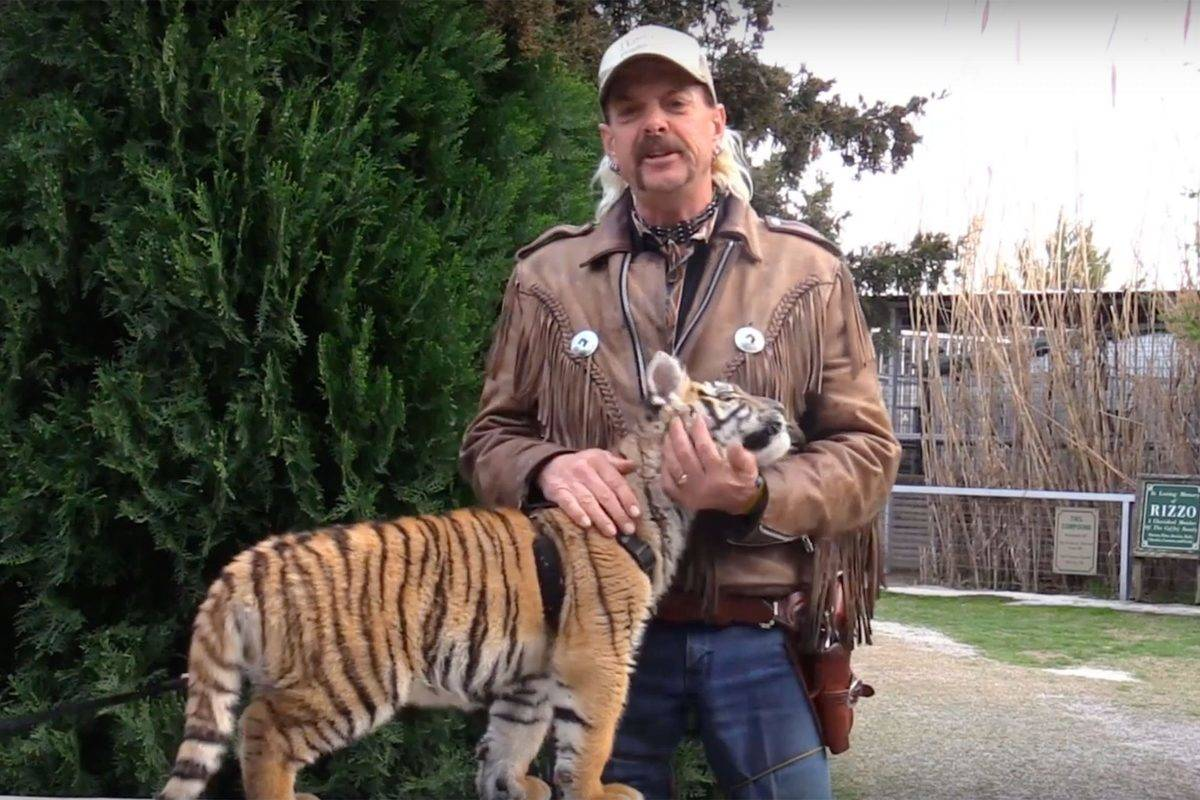 joe exotic with lion