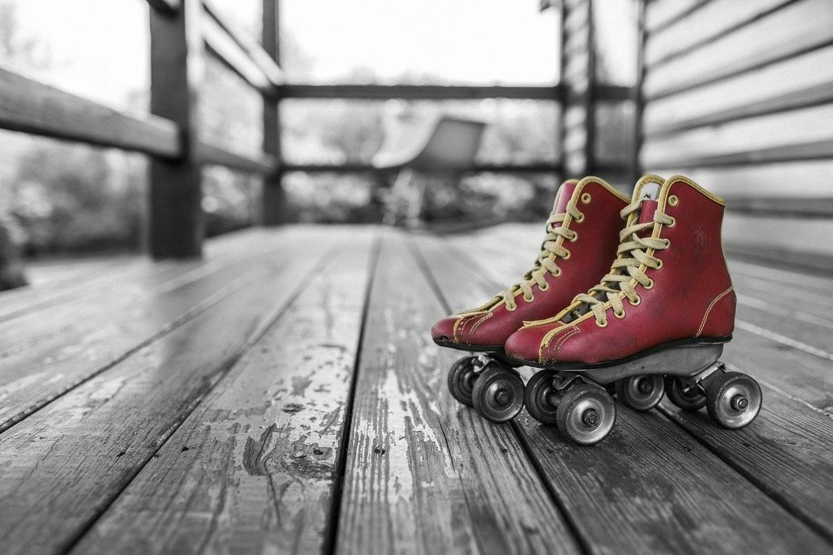 a fancy picture of roller skates