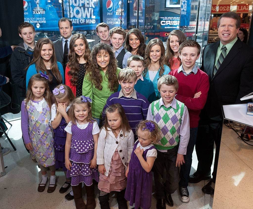 The Duggar family visits